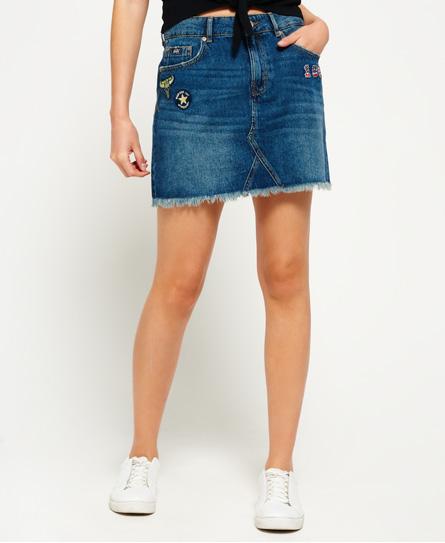 Sale Release Dates Sale Sast Denim Micro Mini Skirt Superdry Buy Cheap Find Great 20b4SF