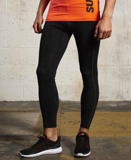 aop reflective twill print Superdry Sport Athletic Leggings