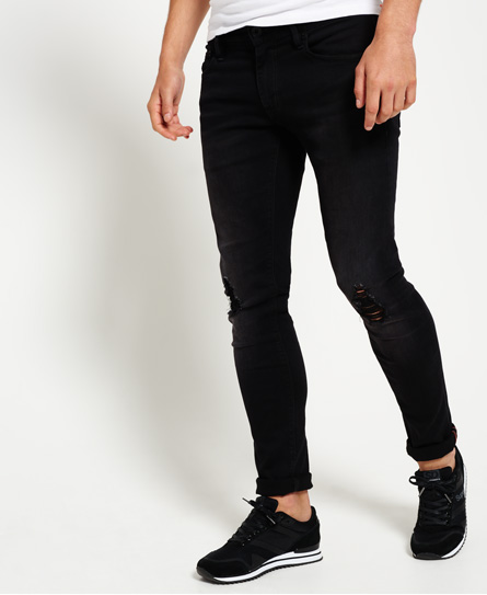 dust pipe black rip Superdry Skinny jeans