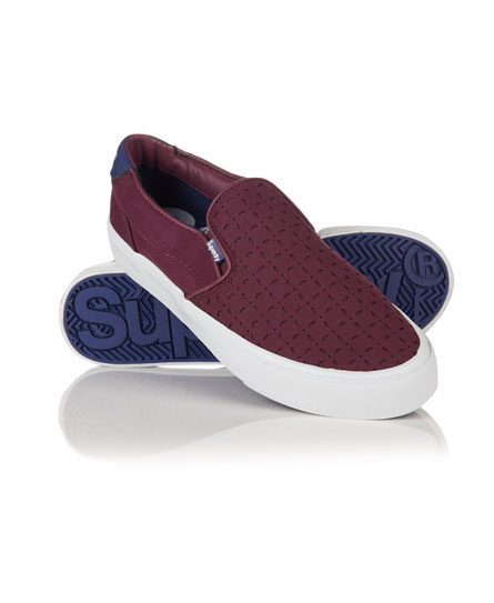 deep plum Superdry Dion Slip On Sneaker