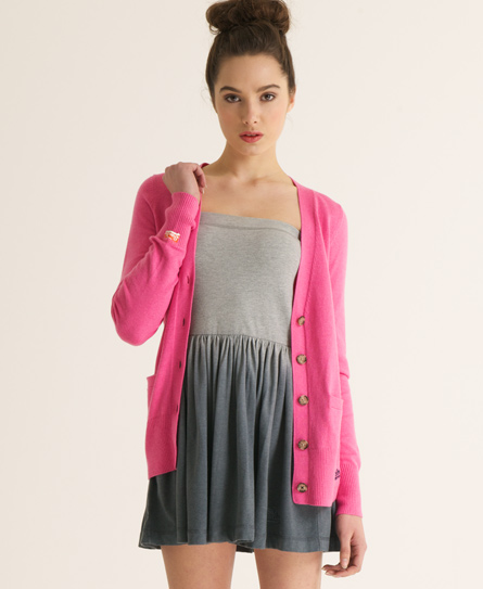 Superdry Orange Label Cardigan Pink