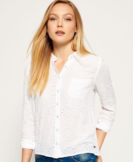Superdry Shifley Shirt White