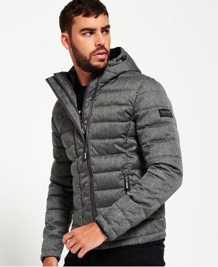 Superdry Double Zip Tweed Fuji Hooded Jacket - Men's Jackets
