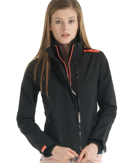 Superdry Pop Zip Windcheater Black