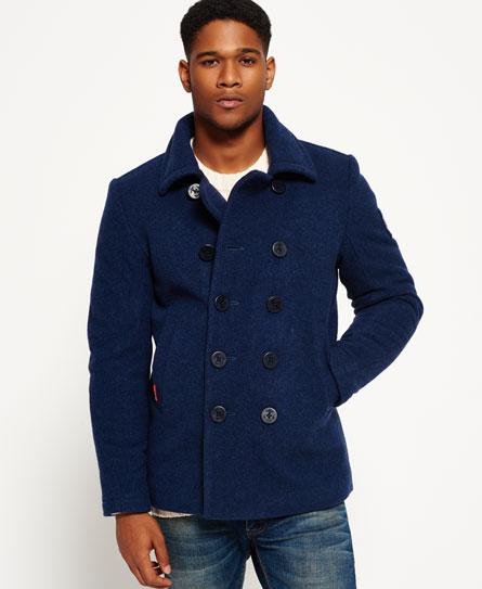 Superdry Rookie Pea Coat - Men's Jackets
