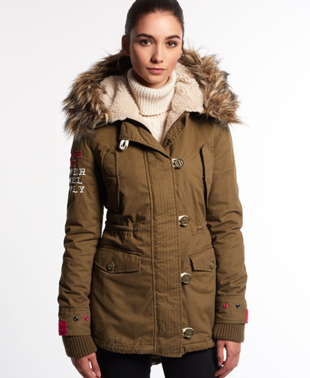 Superdry Badlands Unity Parka Coat - Women's Jackets & Coats
