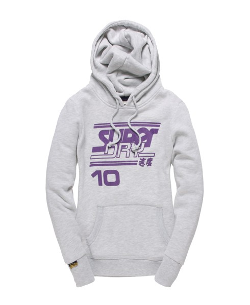 Superdry Blue Hoodie Light Grey