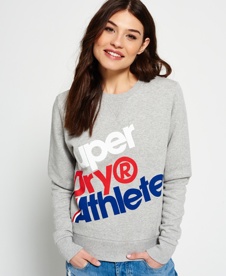 Superdry Athletics sweatshirt met ronde hals