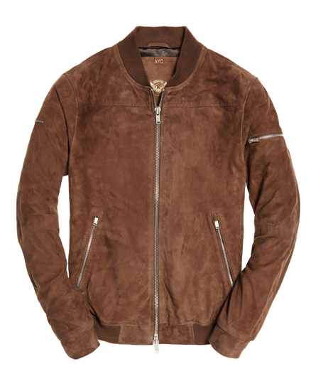 Superdry Slim Suede Bomber Jacket