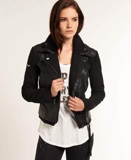 Superdry Double Biker Jacket Black