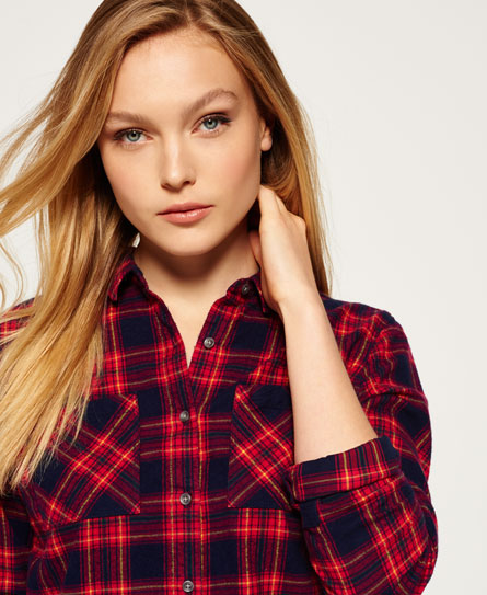 beaumont pink check Superdry Lumberjack Twill-Hemd