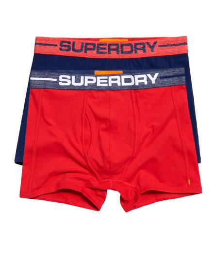 Superdry Lot de deux boxers de sport Bleu Marine