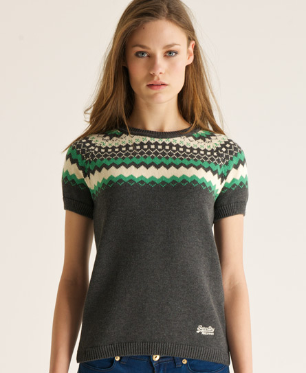 Superdry Fairisle jumper m/rund hals Grey