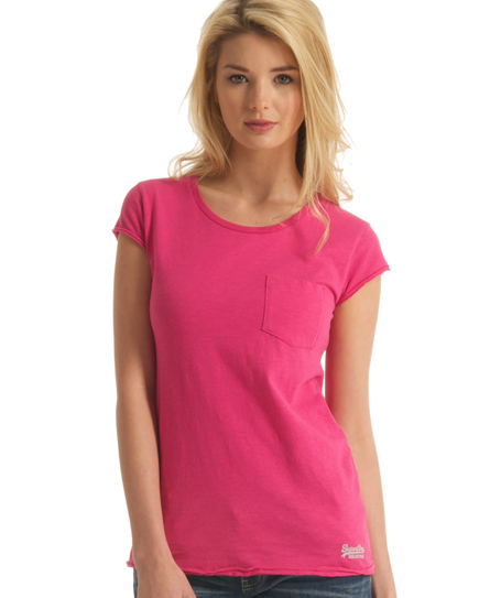 Superdry Pocket T-shirt Pink