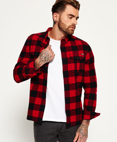timber red check Superdry Rookie Plaid Shirt