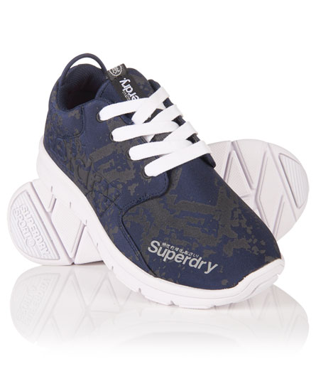 navy python Superdry Scuba Runner Trainers