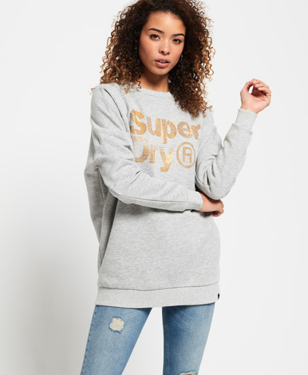 Superdry Superdry Sparkle Skater sweatshirt med rund hals