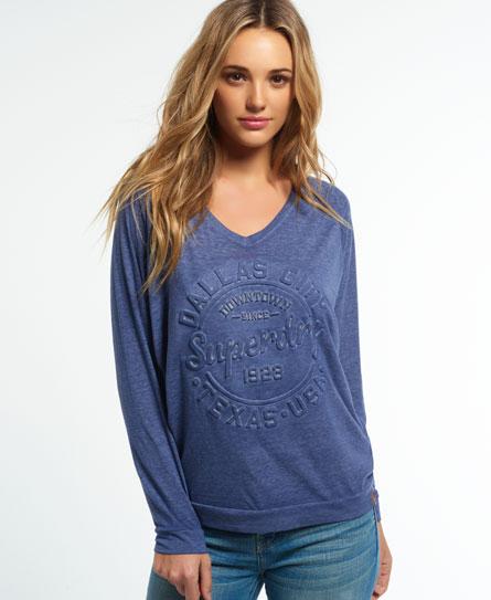 belle blue Superdry Emboss Shirt