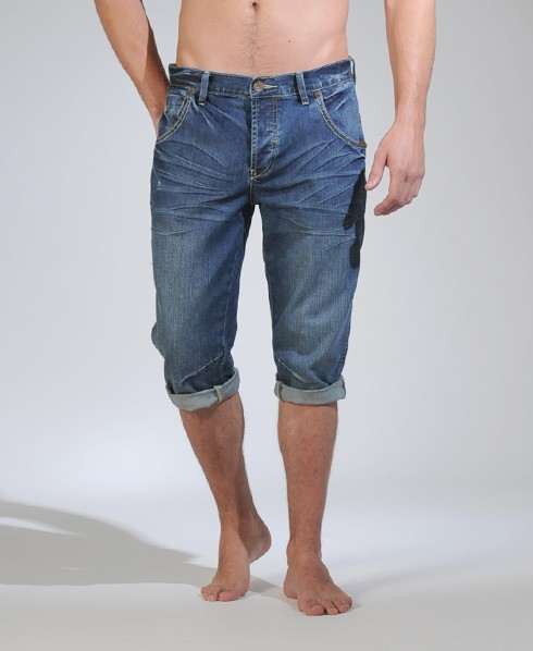 3/4 jean shorts