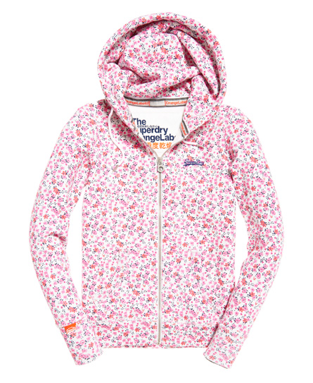 Superdry Orange Label All Over Print Zip hoodie