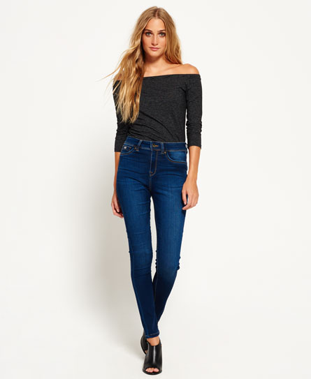 miami rinse Superdry Sophia High Waist Super Skinny Jeans