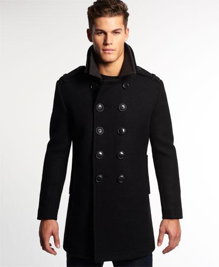 Superdry Tower Bridge Coat Mens Idris Jackets And Coats
