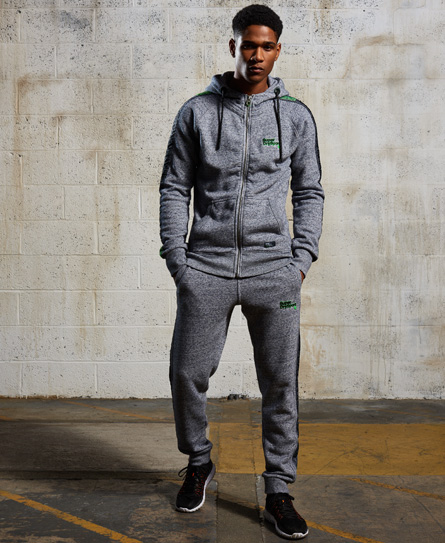 Superdry Sport Label Impact hættetrøje med lynlås