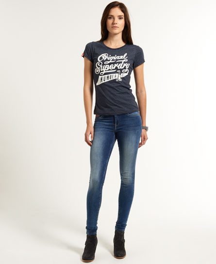 Womens - Second Skin Jeans in Surf Wash   Superdry