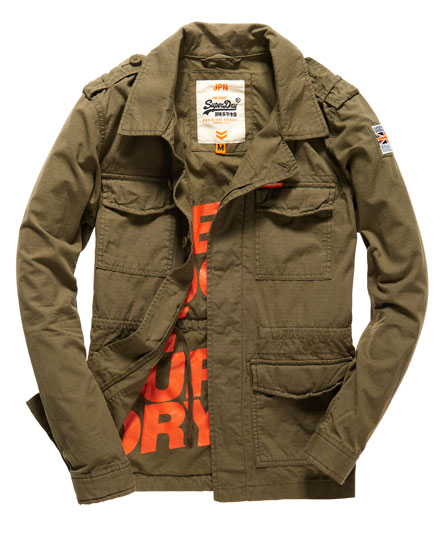 mens rookie military blazer in deepest army superdry. Black Bedroom Furniture Sets. Home Design Ideas