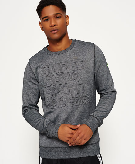 Gym Tech Embossed Crew Neck Sweatshirt