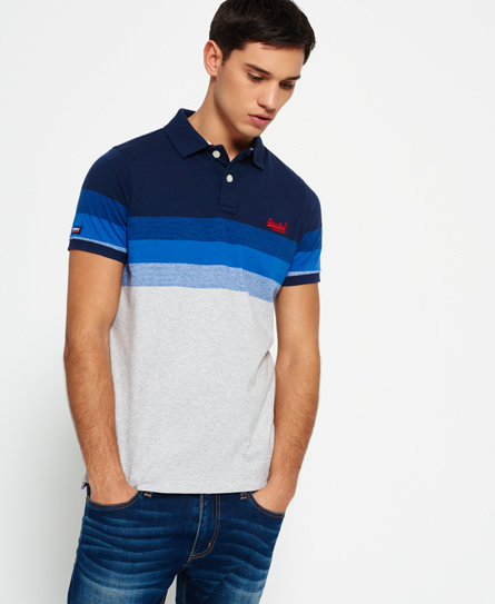navy Superdry Longbeach Polo Shirt