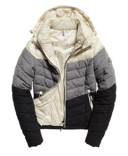 Superdry Fuji Chevron Mix-jakke med hette - Dame Jakker og yttertøy