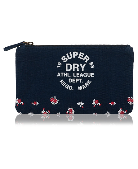 navy/red Superdry Athletic League Pencil Case