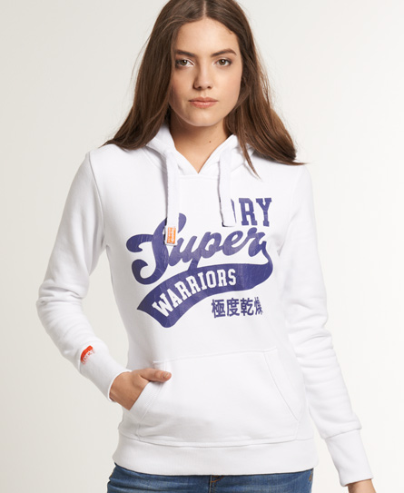 Superdry Warriors Hoodie White