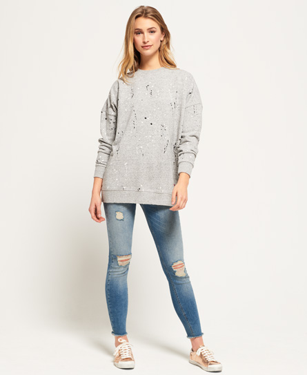 Edgy Nibbled Crew Sweatshirt Superdry Discount Release Dates Clearance Genuine Discount Best Seller Amazon Footaction RrFEFB