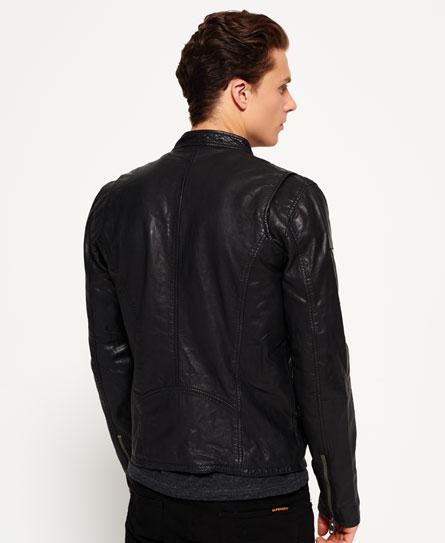 superdry veste de motard real hero vestes en cuir pour. Black Bedroom Furniture Sets. Home Design Ideas