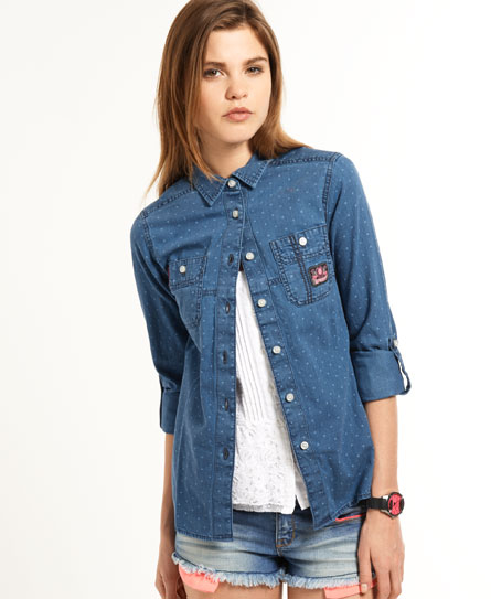 Superdry Classic Loom Shirt Blue