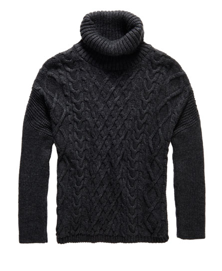 Superdry Cable Cape Pullover