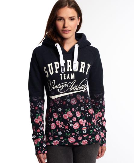 superdry ombre roses hoodie damen hoodies. Black Bedroom Furniture Sets. Home Design Ideas