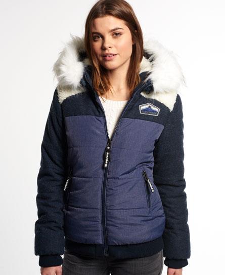 Superdry Brooklyn Borg Bomber Jacket Navy - Superdry Brooklyn Borg Bomber Jacket - Women's Jackets & Coats