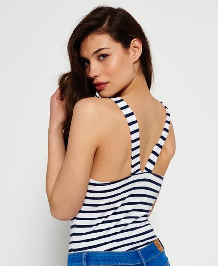 navy/white stripe Superdry Lenox Bodysuit