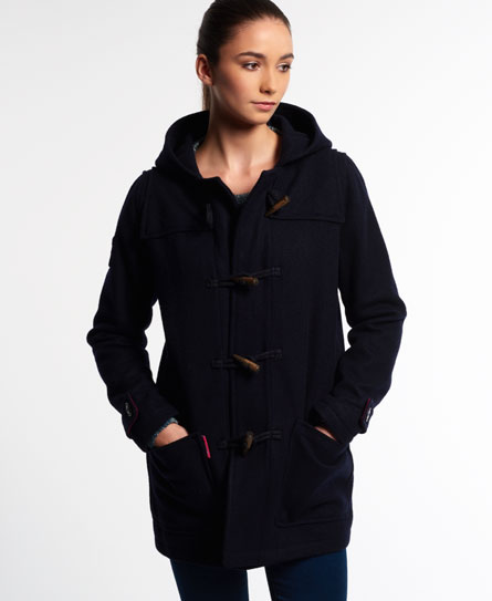 Womens - Rookie Duffle Coat in Navy | Superdry