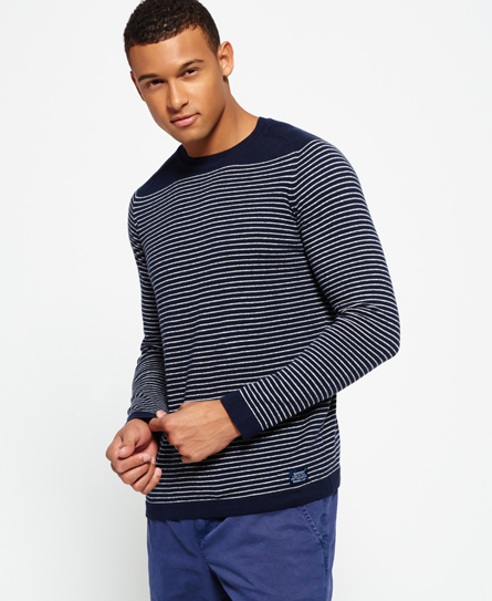 With crisp Breton stripes for nautical vibes, this comfortably knit sweater is just what you need for chilly offices or cooler weather, with a classic cut for wear-with-anything style.