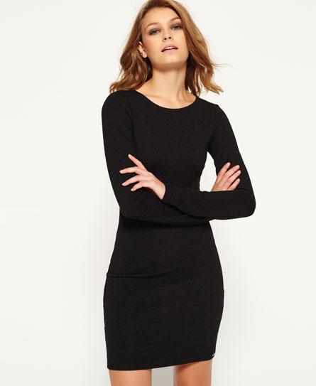 schwarz Superdry Augusta Bodycon-Kleid