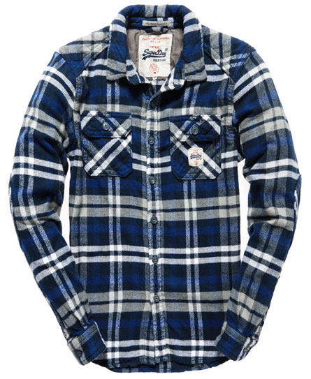 Mens milled flannel shirt in hudson bay navy check for How to wash flannel shirts