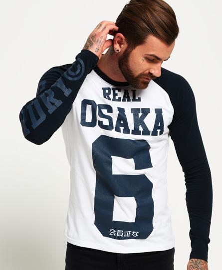 Superdry Real Osaka 6 T-Shirt mit langen Raglanärmeln