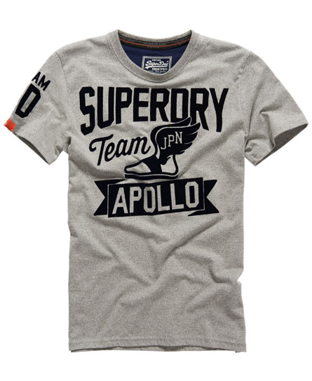 Mens Apollo Colosseum T shirt In Grit Dark Marl Superdry