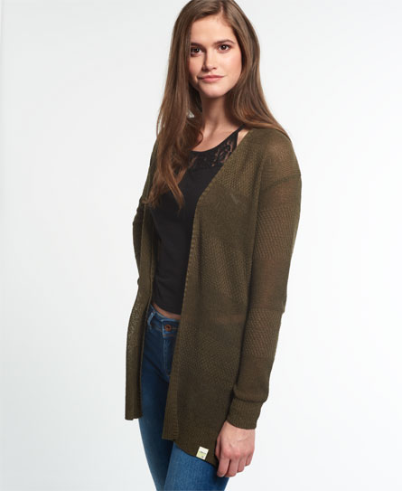 Superdry Road Trip Cardigan Green