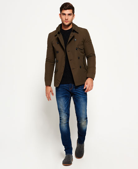 Superdry Blockade Aviator Pea Coat