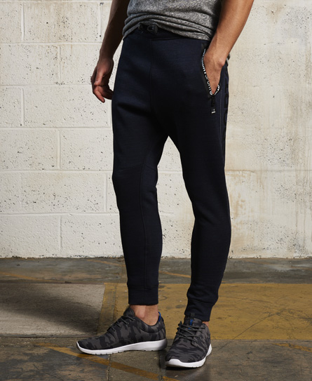 indigo/petrol Superdry Gym Tech Slim Joggers